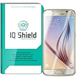 IQ Shield Tempered Glass - Samsung Galaxy S6 Glass Screen Protector (Premium Ballistic Glass with Lifetime Warranty Replacements) - 99.9% Transparent True HD Glass Shield / 9H Hardness and only .33mm Thickness / Shatter-Proof + Bubble-Free Installation