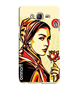 Omnam Girl With Flower In Hand Printed Printed Designer Back Cover Case For Samsung Galaxy On 5