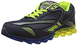 Steemo Men's Blue and Parrot Green Running Shoes - 8 UK/India (42 EU)(STM1024)