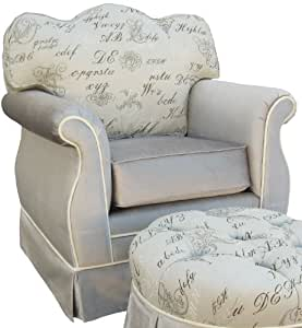Angel Song Provence Empire Adult Rocker Glider Chair - Foam Filled