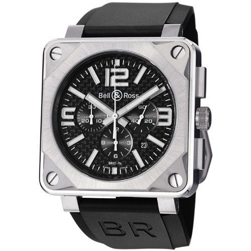Bell & Ross Men's Aviation Titanium Automatic Chronograph Watch BR 01-94 PRO TITANIUM CARBON FIBER
