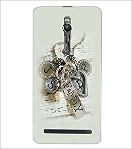 PrintDhaba Metal Design D-2265 Back Case Cover for ASUS ZENFONE 2 (Multi-Coloured)