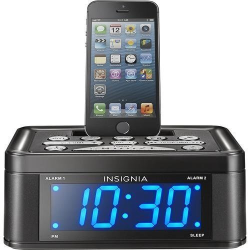 capello stereo fm clock alarm radio w lightning dock for iphone 5 5s and 6 radio alarm clocks. Black Bedroom Furniture Sets. Home Design Ideas