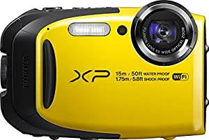 Fujifilm FinePix XP80 Waterproof Digital Camera with 2.7-Inch LCD (Yellow)-(Certified Refurbished)