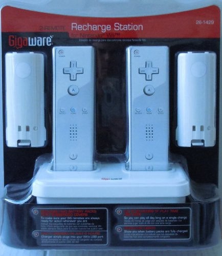 wii 2 remote. 2-Remote Recharge Station for