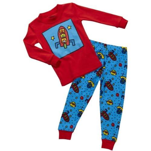 Amazon.com: Sara's Prints Boys' Snug Fitting Pajamas Outer Space