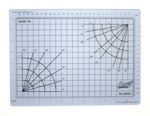 Excel Self-Healing Cutting Mat, 8 by 12-Inch, Clear