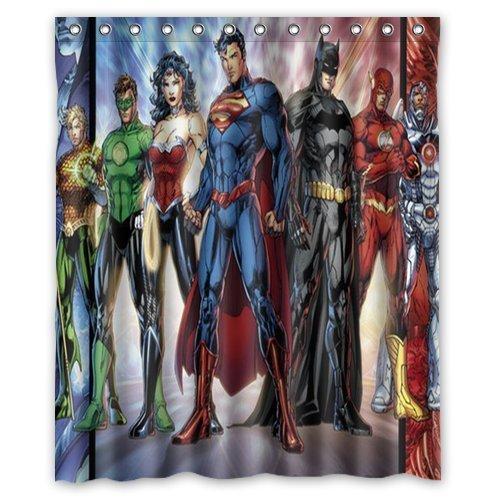 Custom Dc Comics Justice League Superheroes Comics Shower Curtains Bathroom Waterproof Fabric 60