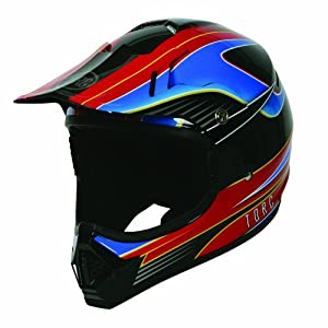 TORC T31 MX Youth Helmet with 'Vector' Graphic (Black, Medium)