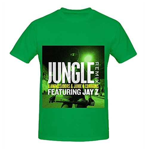 x-ambassadors-jungle-remix-feat-jay-z-tour-soundtrack-men-crew-neck-short-sleeve-shirt-green