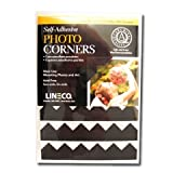 Lineco Self-Adhesive Photo Corners Blk 252/Pk