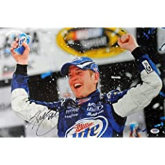 KURT BUSCH NASCAR AUTHENTIC SIGNED 12X18 PHOTO AUTOGRAPHED CERTIFICATE OF... by Press Pass Collectibles