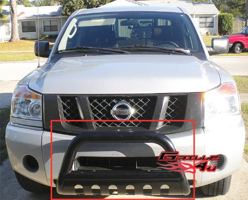 APS BB-NAK021B Black Bull Bar Bolt Over for select Nissan Armada Models (Nissan Armada Nerf Bars compare prices)