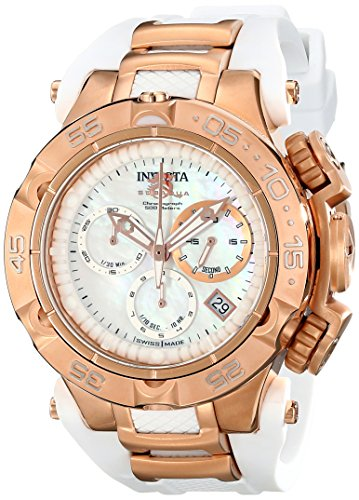 Invicta 17239 42mm Stainless Steel Case White Polyurethane flame fusion Women's Watch