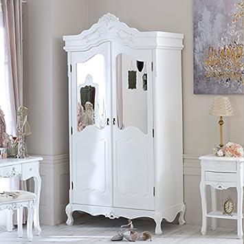 Rose Range - Ivory Mirrored Double Wardrobe
