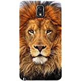 For Samsung Galaxy Note 3 :: Samsung Galaxy Note III :: Samsung Galaxy Note 3 N9002 :: Samsung Galaxy Note N9000 N9005 Dangerous Lion ( Dangerous Lion, Lion, Cute Lion, Brown Lion ) Printed Designer Back Case Cover By FashionCops