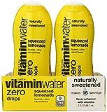 vitaminwater zero drops, squeezed lemonade, 6 ct, 3 FL OZ Bottle