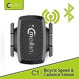 Meilan C1 Bike Speed/Cadence 2-in-1 Sensor,Bluetooth/ANT+ (Color: Black, Tamaño: Small)