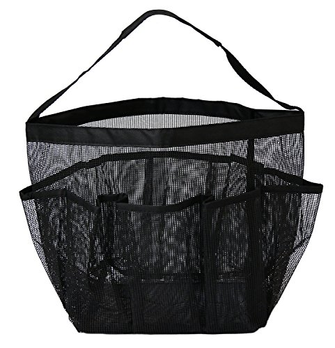attmu mesh shower tote caddy quick dry shower tote bag bath organizer for shampoo conditioner. Black Bedroom Furniture Sets. Home Design Ideas