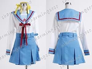 Suzumiya Haruhi Cosplay Costume Long Sleeve Uniform (Female S)