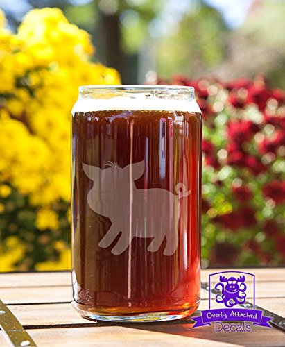 Cute Barnyard Piglet Beer Can Glass Gift (Yards Beer Glass compare prices)