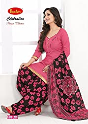 Taos Brand cotton dress materials for women womens dress materials cotton salwar suit New Arrival latest 2016 womens party wear Unstitched dress materials for women (bal209 summer__multicolour and orange_freesize