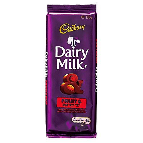 オーストラリアお土産 キャドバリー デイリーミルクチョコレート フルーツ&ナッツ 1枚