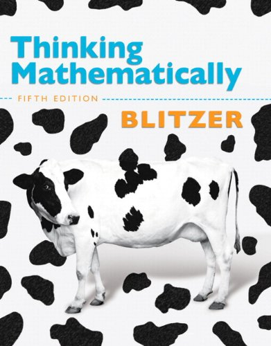 Thinking Mathematically plus MyMathLab with Pearson eText...