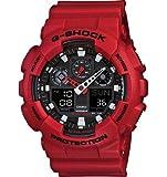 Casio Men's G-Shock GA100B-4A Black Polyurethane Analog Quartz Watch