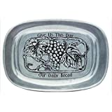 Tray-Our Daily Bread-Vineyard-Pewter