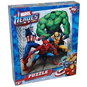 Amazon.com: Marvel Heroes 100 Piece Puzzle - Spiderman, Hulk