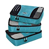 eBags Medium Packing Cubes - 3pc Set (Aquamarine)