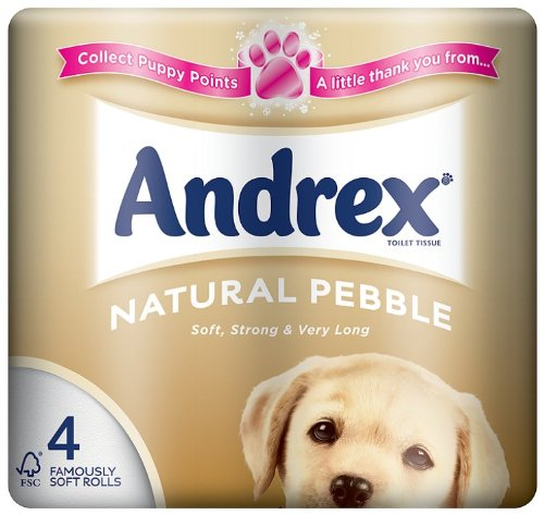 Andrex 4 Roll Mainstream Natural 240 Sheets (Pack of 10, Total 40 Rolls)