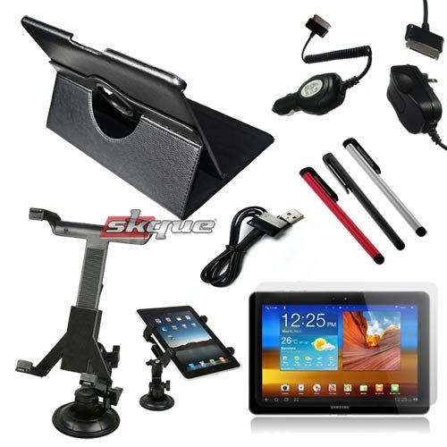 Tsirtech® 9-Item Accessory Bundle for New Samsung Galaxy Tab 10.1 P7500 P7510