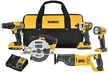 DeWalt 20V Cordless 5-Tool Combo Drill Kit