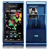 EMARTBUY SONY ERICSSON SATIO CONTOUR PATTERN GEL SKIN COVER/CASE BLUE