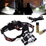 XCSOURCE 5000LM 3x CREE T6 LED Stirnlampe Fahrad Front Motorrad