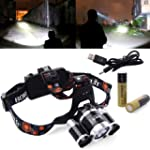 XCSOURCE 5000LM 3x CREE T6 LED Stirnl...