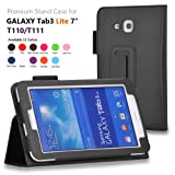 onWay(TM) Premium Premium Folio Leather Case Cover for Samsung Galaxy Tab 3 Lite 7.0 SM-T110 / T111 7.0 Inch Android... by onWay