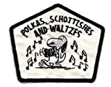 Snoopy w accordion music notes Polka Schottish Waltz Dance  Embroidereds Peanuts Iron On / Sew On Patch Applique Peanuts
