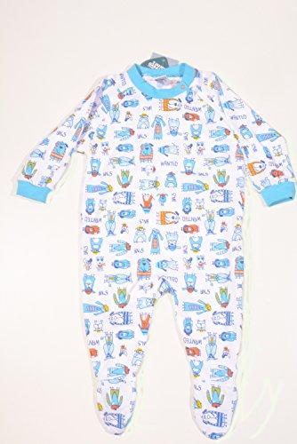 Sanetta Baby Pajamas 1 Piece Organic Cotton Blue Boy
