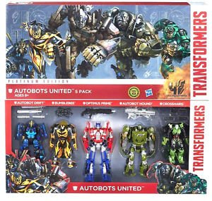 Transformers Platinum Autobots United Optimus Hound Drift Bumblebee Crosshairs (Transformers United compare prices)