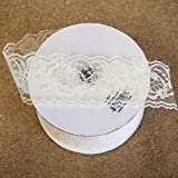 "Lace Ribbon in Ivory 2"" Wide x 25 yds"