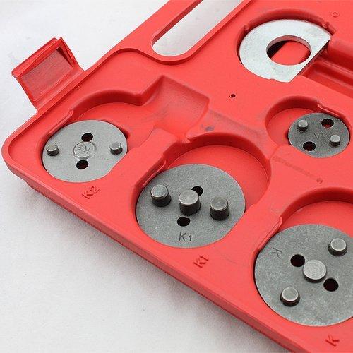 Hengda® Universal Brake Caliper Piston Rewind Wind Back Tool Kit Set of 22 pieces
