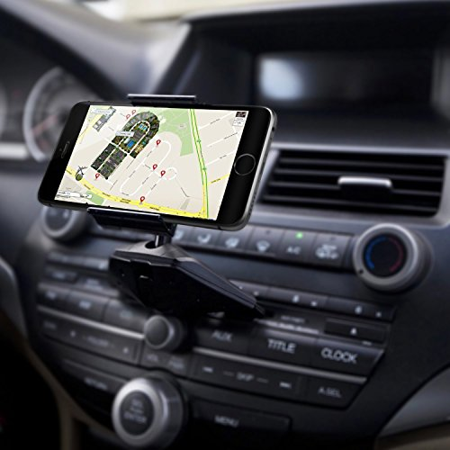 Hondes CD-Air CD Slot Smartphone Car Mount Holder Cradle for All iPhone and Android Devices (Land Rover Mobile Phone compare prices)