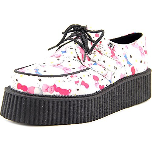 TUK-Hello-Kitty-Toys-Mondo-Creeper-Women-Round-Toe-Synthetic-Oxford