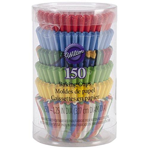 Wilton Primary Baking Cups, Mini, 150-Count (Mini Cupcake Paper Liners compare prices)