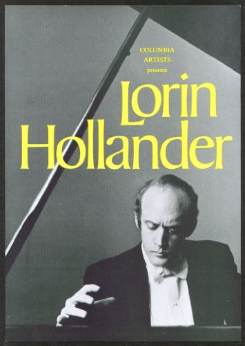 Pianist Lorin Hollander Flyer Bushnell Hartford Ct 1978