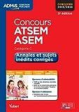 Concours ATSEM et ASEM - Annales et sujets inédits corrigés - Catégorie C - Concours 2015-2016