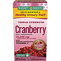 Nature's Bounty Triple Strength Cranberry Fruit Concentrate Softgels, 60 count